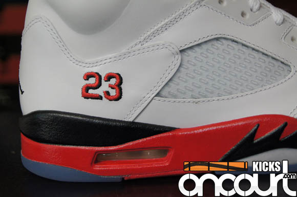 aa36ddb1ee1997 Air Jordan 5 Retro  Fire Red  - Detailed Look   Review - WearTesters