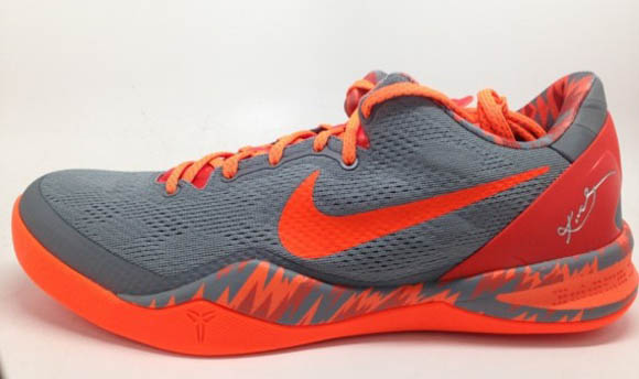more photos be930 08829 Nike Kobe 8 SYSTEM PP Grey Orange 2
