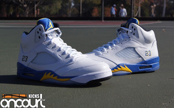 1c142ccd0883f9 Air Jordan 5 Retro  Laney  - Up Close   Personal - WearTesters