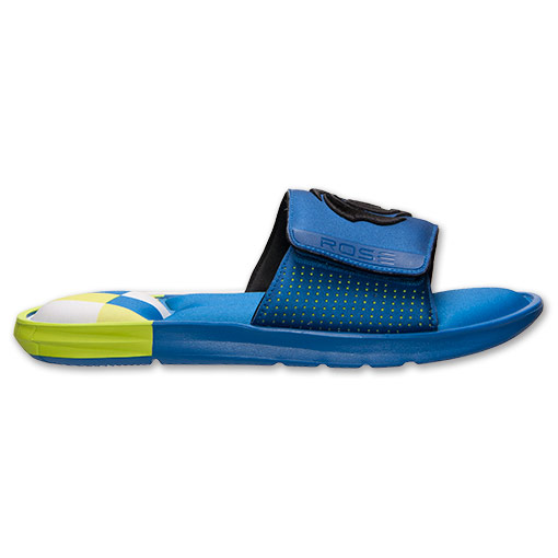 adidas D Rose Slide Sandals - Available Now BLUE 3
