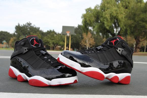 573fe93f0152f4 Air Jordan 6 Rings Black Red - Detailed Look 2 - WearTesters