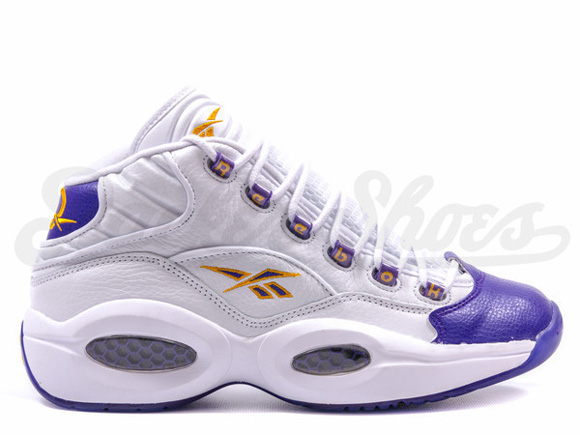 new product 11af8 f6484 Reebok Question Mid  For Players Use Only  White Purple - Restock 1