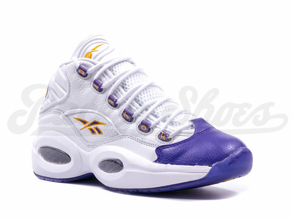 premium selection 3577f 5b7d7 Reebok Question Mid  For Players Use Only  White Purple - Restock 3