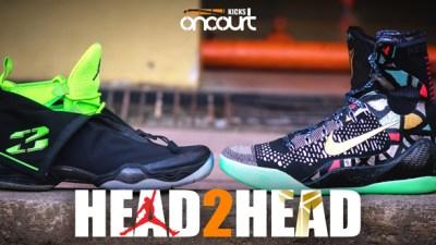 sports shoes e9b9f 6198b Head 2 Head  Air Jordan XX8 vs Nike Kobe IX Elite