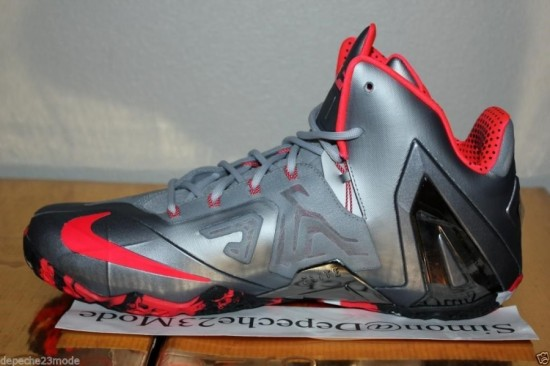 8fa04a1f07e28 Nike LeBron 11 Elite – Wolf Grey – Crimson – Cool Grey – Black3 ...