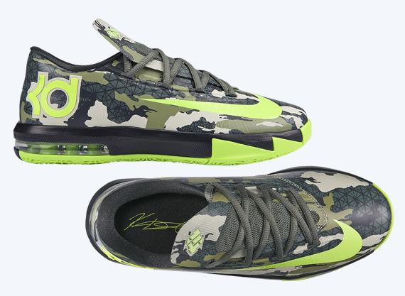 12286a8e19b Nike KD VI GS  Camo  - Release Info - WearTesters