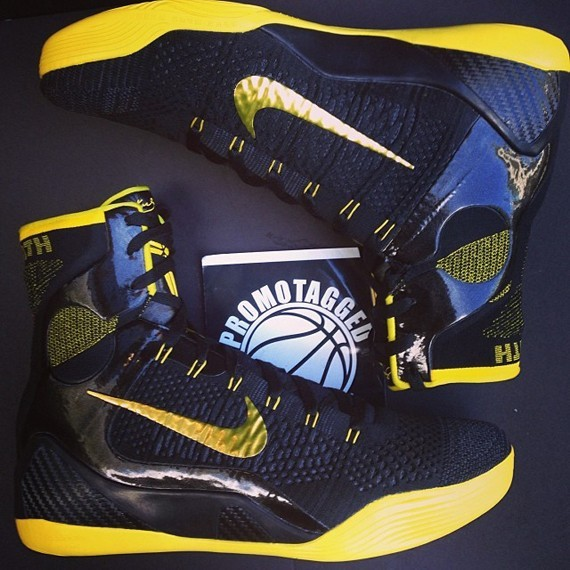 Nike Kobe 9 Elite Black  Yellow PE - WearTesters 4b25fad4c072