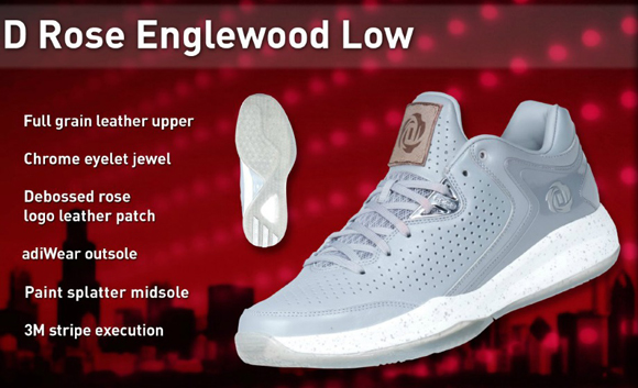 pretty nice 78b8d c9394 adidas D Rose Englewood Low 3.0