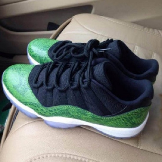 fdda659535de Air Jordan 11 Low  Green Snake  - WearTesters