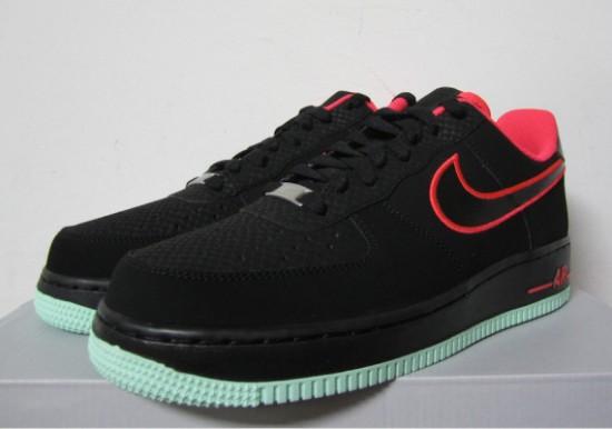 buy popular 9bb33 c6217 Nike Air Force 1 Low – Black – Laser Crimson – Arctic Green 2