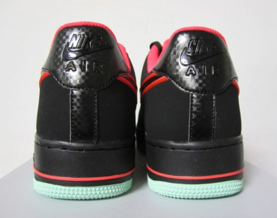separation shoes 2cef2 52e38 Nike Air Force 1 Low – Black – Laser Crimson – Arctic Green 3
