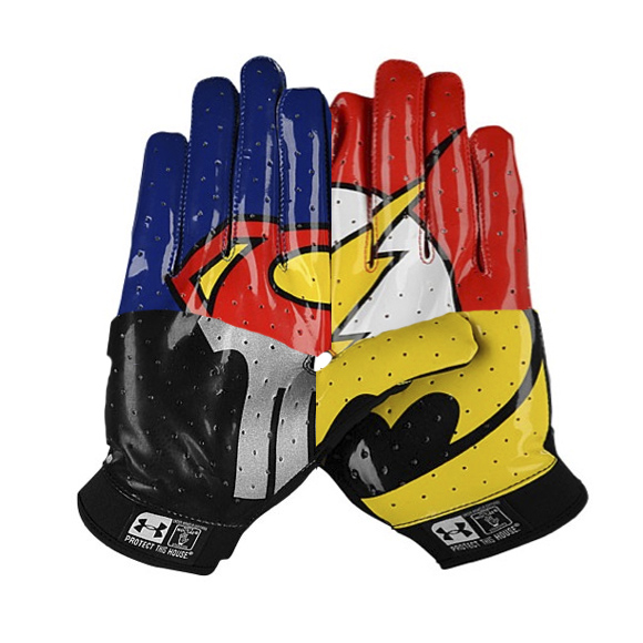 under armour superhero football gloves