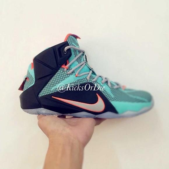 sale retailer 60e25 e1a30 Nike LeBron 12 Sample - Closer Look 1 ...