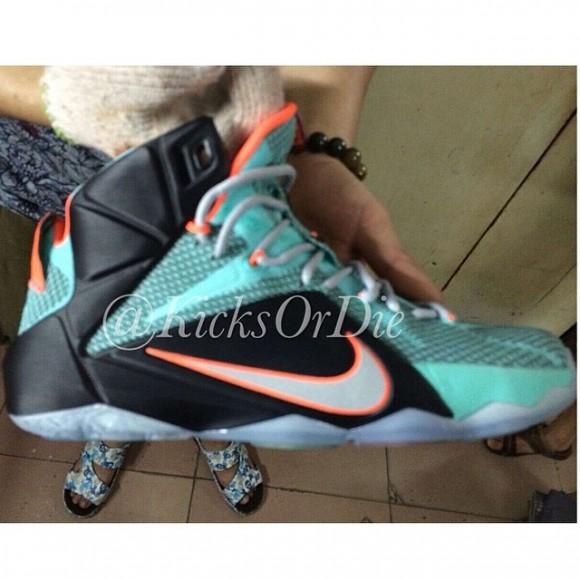 new style 5e583 f09a1 ... Nike LeBron 12 Sample - Closer Look 2