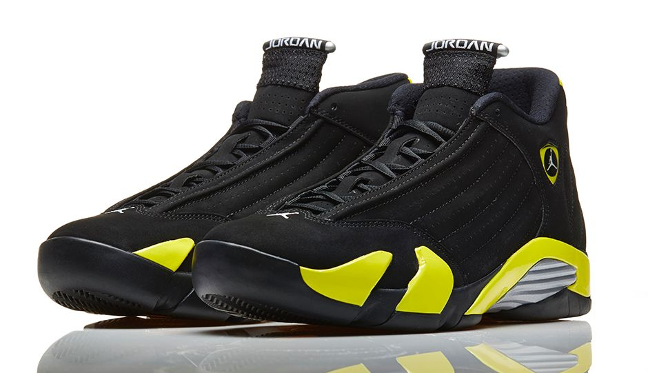check out 02668 f1b66 Air Jordan 14 Retro  Thunder  - Official Look - WearTesters