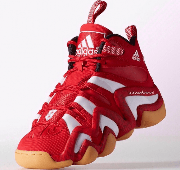 0d40094309fc adidas Crazy 8 Red  White - Gum - WearTesters