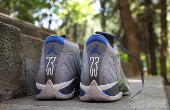 4c7549284fd Air Jordan 14 Retro Wolf Grey/Sport Blue- New Images - WearTesters