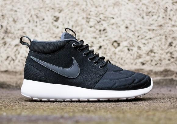 buy online bd80f c45de Nike Roshe Run Mid Black  Dark Grey 1 ...