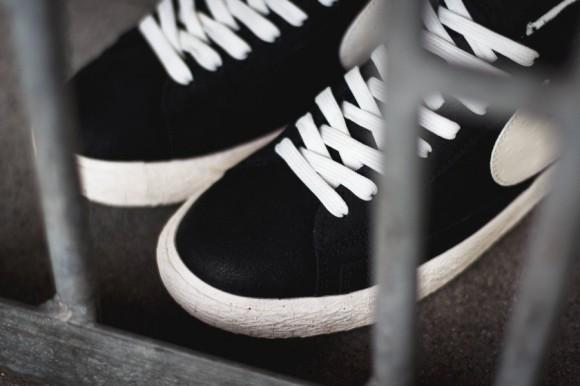 reputable site b01bc 9b580 ... Nike Blazer Mid Premium Vintage Black White 5