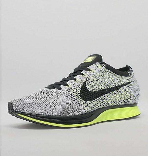 reputable site 24155 3da81 Nike Flyknit Racer - Black  White  Volt - WearTesters
