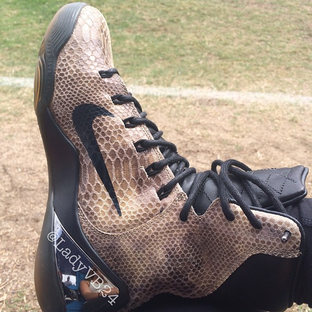 best sneakers f7b20 fabfc Vanessa Bryant Shows Off New Kobe 9 EXT  Snakeskin  - WearTesters