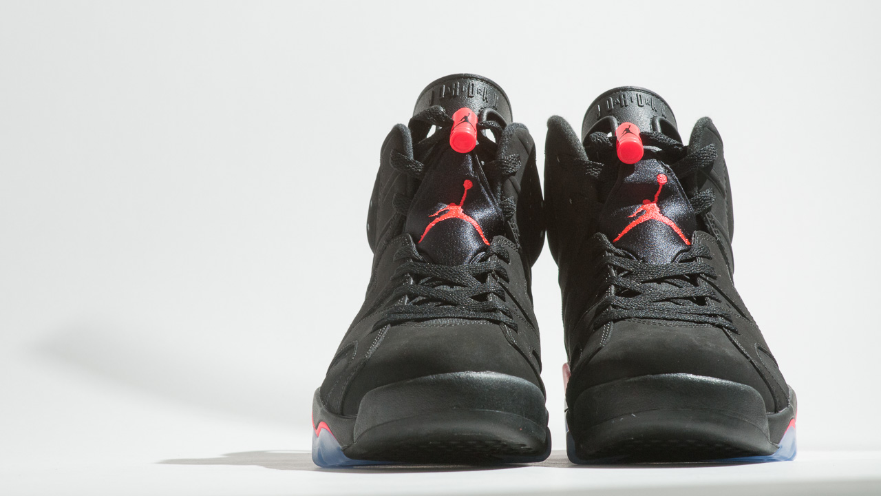 9bccd9f83b479f Air Jordan 6 Retro Black  Infrared23 - Up Close   Personal - WearTesters