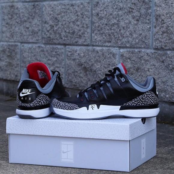 28f49c93142 Nike Zoom Vapor 9 Tour x Air Jordan 3 'Black Cement' Teaser1 ...