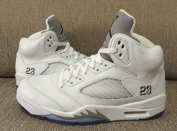 meet 98e59 fb2f0 Air Jordan 5 Retro White Metallic Silver 4