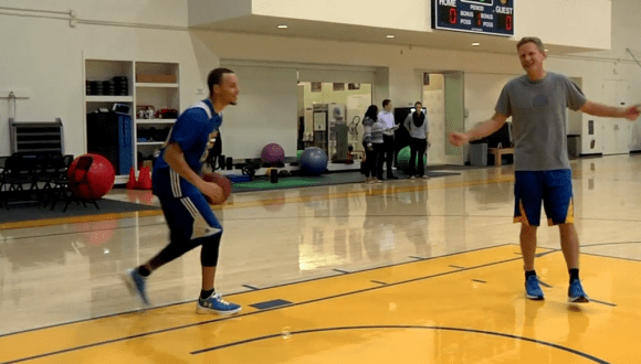 90543ed95e62 Stephen Curry Wears Under Armour Curry One Low PE During Practice 3 ...