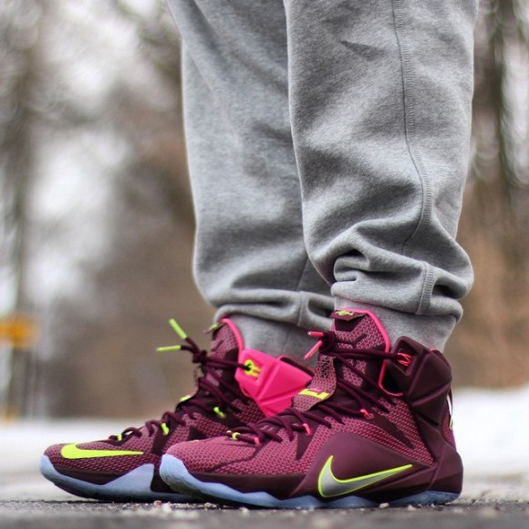 new product fe135 d7eac Nike LeBron 12  Double Helix  – On-Feet Look