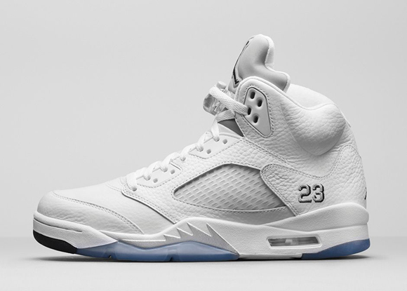 ab48b2574b6d84 Air Jordan 5 Retro White  Metallic Silver - Available Now - WearTesters