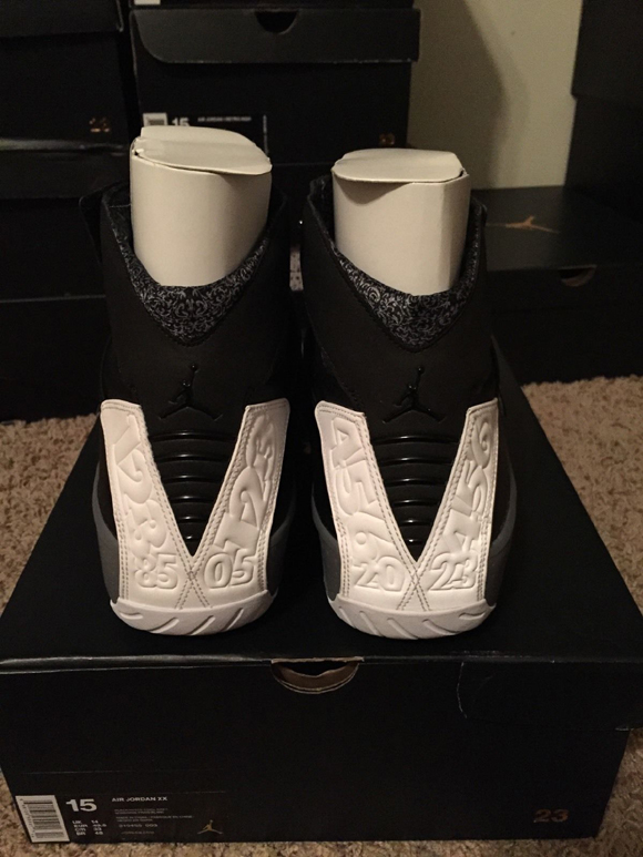 e2cc0eb0d715 Air Jordan XX (20) Retro Black White - Cool Grey 5 - WearTesters