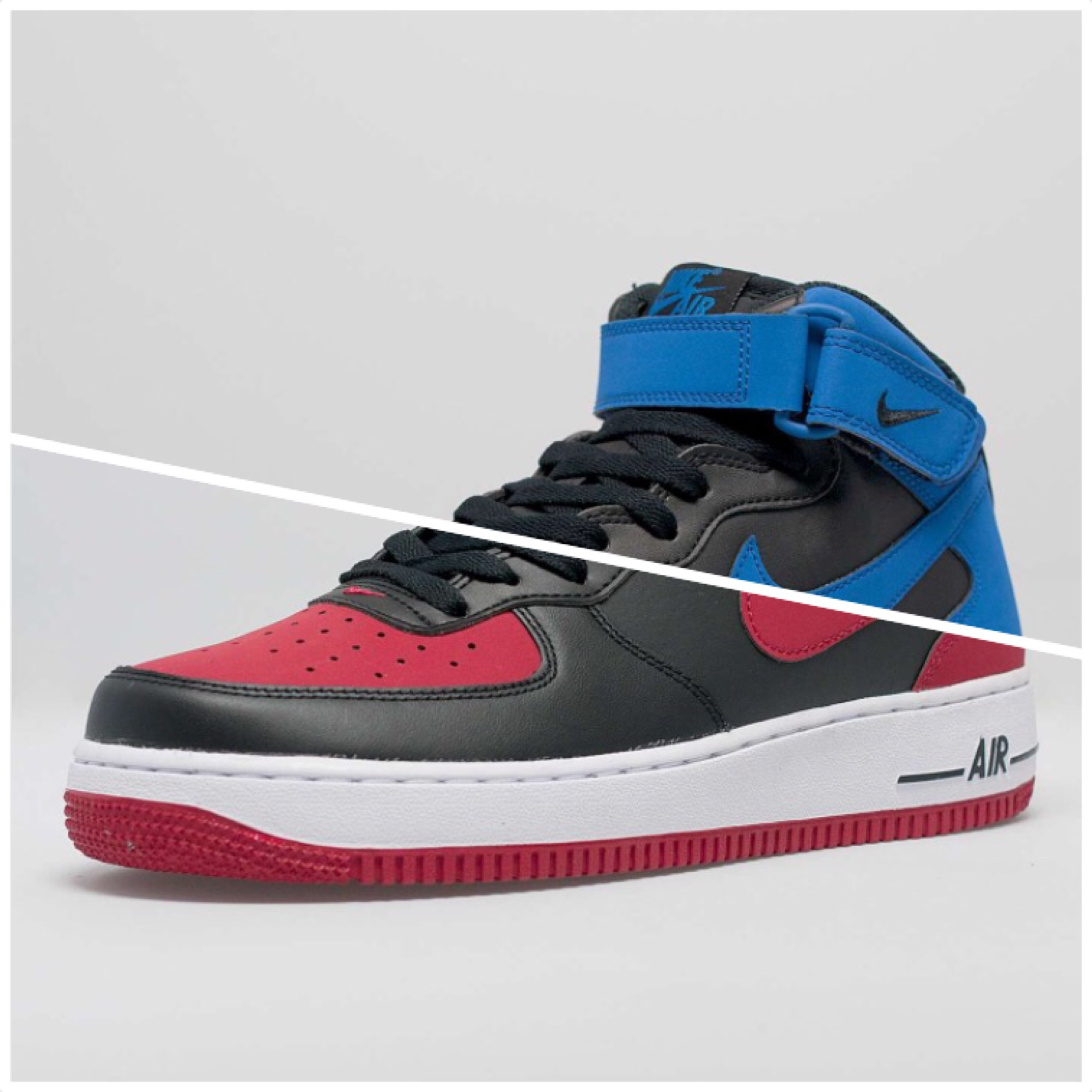 Nike Air Force 1 Mid Colorways Inspired by the  Bred     Royal  Air ... 09e2f3b54