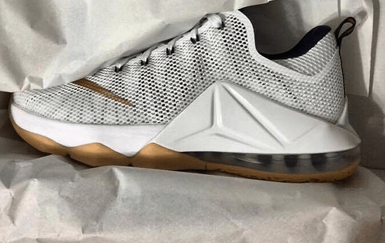 new product 50e75 84129 Nike LeBron 12 Low White  Gold