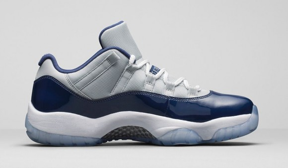 Air Jordan 11 Retro Low 'Georgetown: Grey Mist' medial side