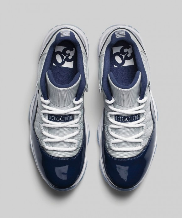 Air Jordan 11 Retro Low 'Georgetown: Grey Mist' top view