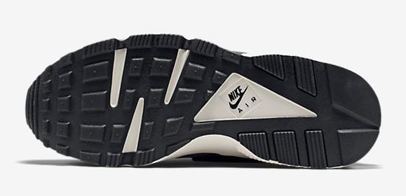 purchase cheap 653e7 fbf2f ... Nike Air Huarache Mine Grey  Poison Green outsole bottoms