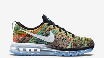 5be428641ec91 Nike Flyknit Air Max  Multicolor  – Restock. Coveted multicolor flyknit  shoes have been the ...