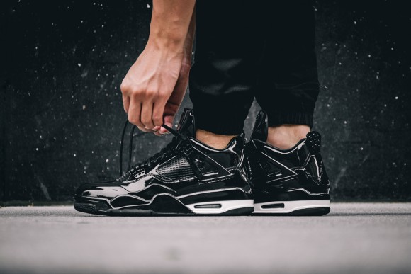 On-Feet Images of the Air Jordan 11Lab4 Retro Black: White