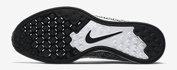 Nike Flyknit Racer Black: White outsole bottoms