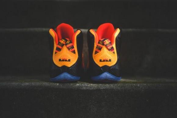 new product 49d8f 992cc Nike LeBron 12  Cleveland  heel