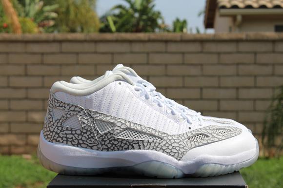buy popular 65d32 5731a ... Air Jordan 11 IE Low White Cobalt - Detailed Look 5 ...
