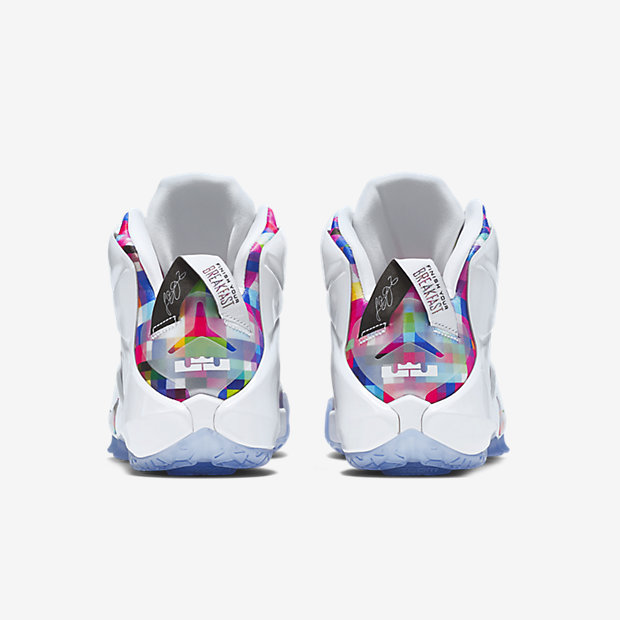 ... Nike LeBron 12 EXT Finish Your Breakfast Fruity Pebbles heel ... ffca1d17f530