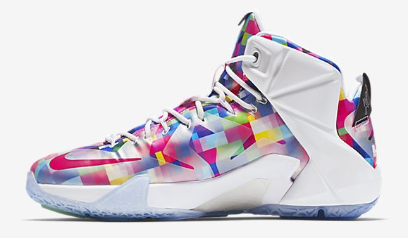quality design a01d2 7e10f Nike LeBron 12 EXT Finish Your Breakfast Fruity Pebbles medial