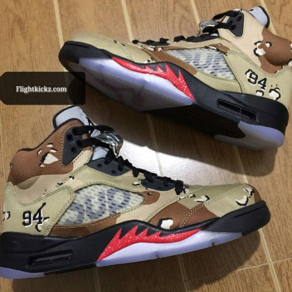9b308f0a1e62aa Camo Makes Up This Supreme x Air Jordan 5 Retro Collaboration ...