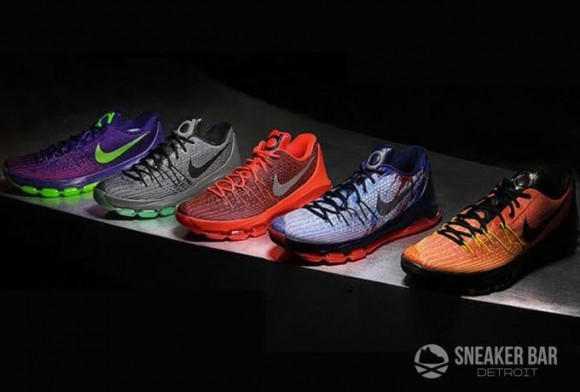 92b46aaed0c Upcoming Nike KD8 Colorways. Via Sneaker Bar Detroit