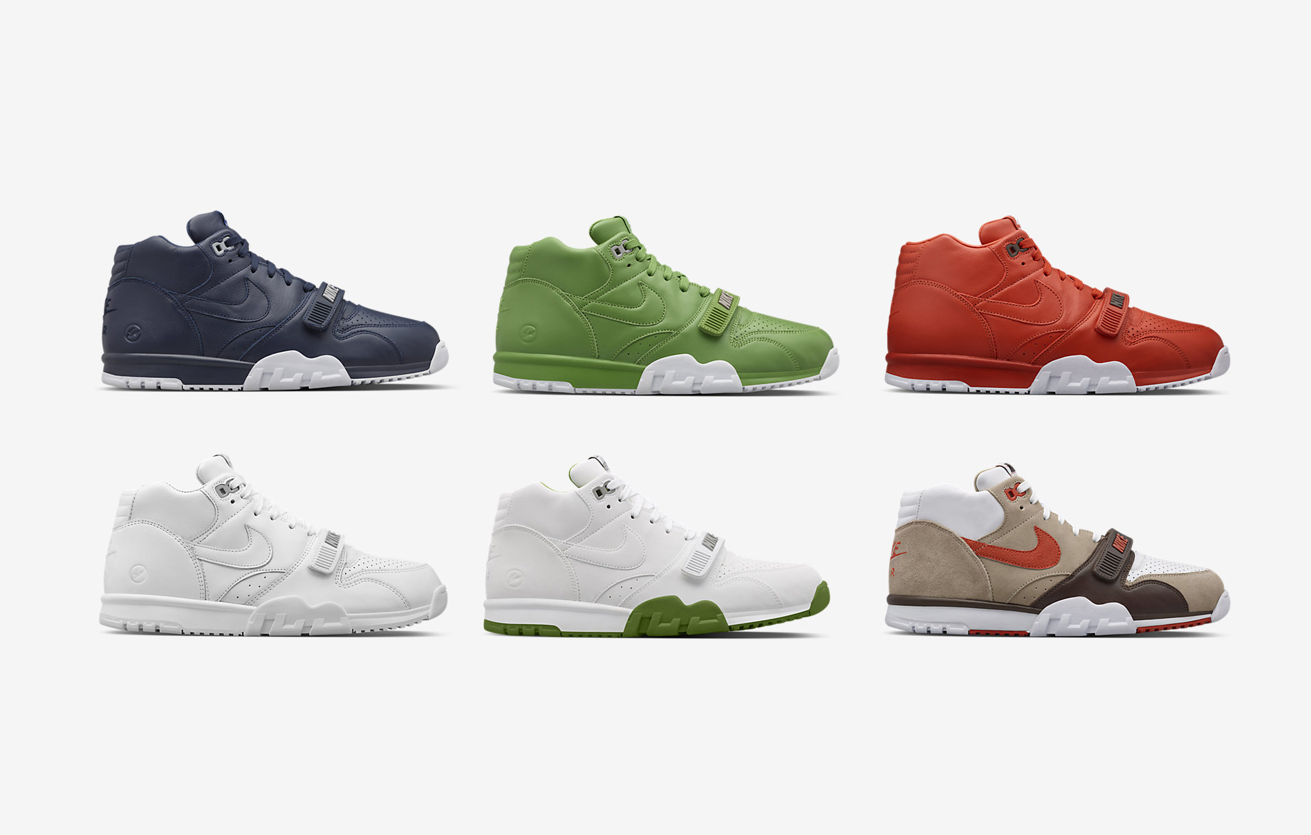 newest 78999 0b89d Fragment x Nike Air Trainer 1 Mid - 6 Colorways Available Now ...