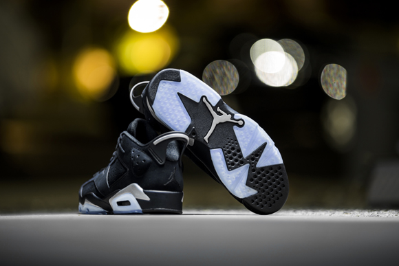 huge discount e202f 40307 ... Get Up Close and Personal with the Air Jordan 6 Retro Low in Black  Chrome 5 ...
