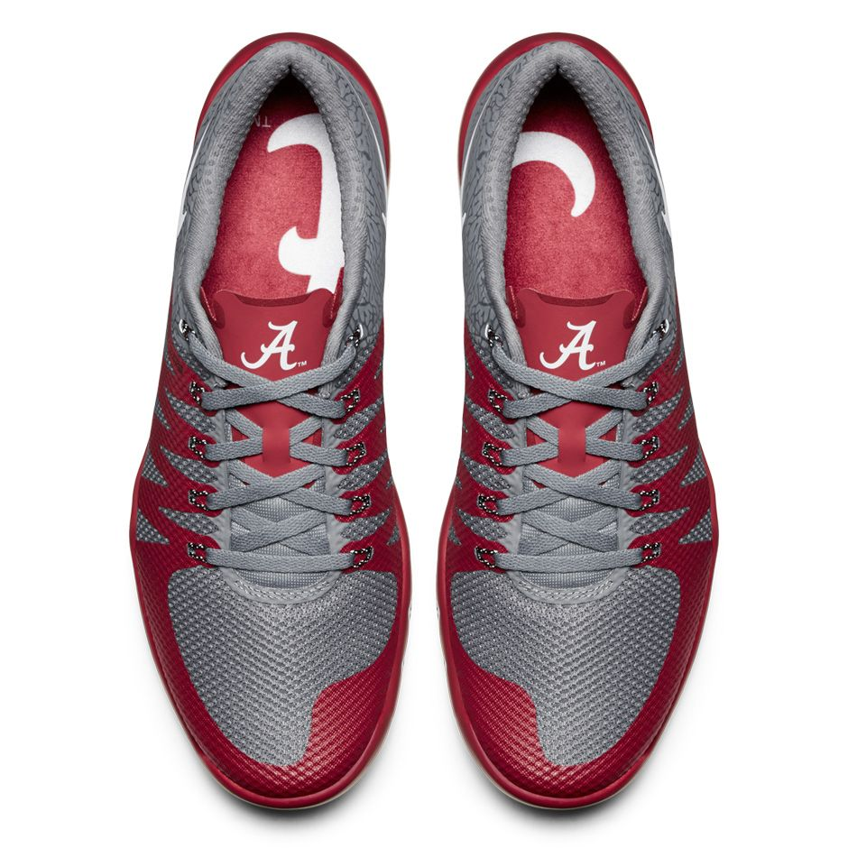 b0ac29cd404cb Nike Free Trainer 5.0 V6  Week Zero  Alabama Crimson Tide Top View ...