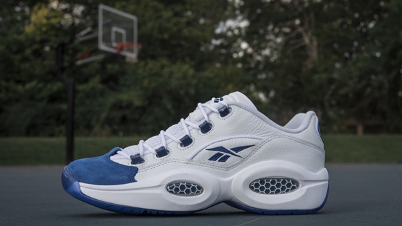 half off 69852 7f27e Reebok Question Low  Blue Toe  - Available Now - WearTesters